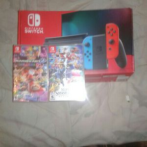 nintendo switch with 2 games for Sale in Miami, FL