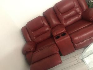 Red recliner love seats for Sale in Miami, FL