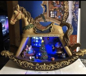 Emma animated Christmas musical rocking horse Santa tree for Sale in Three Rivers, MI