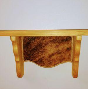 Cowhide detailed shelf for Sale in Pinetop-Lakeside, AZ