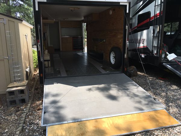 2002 Pace 24' dove tail box trailer