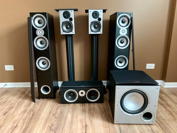 Polk Audio speaker set.
