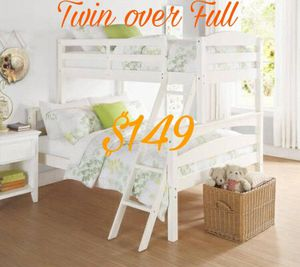New Twin over Full Bunk bed NO MATTRESSES $149 for Sale in Dallas, TX