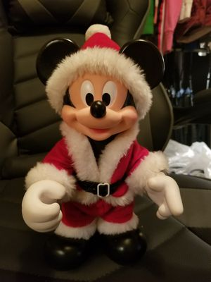 "Vintage Disney Mickey Mouse Santa Doll (Arco)- Posable 10"" Doll -Figurine. for Sale in Dallas, GA"