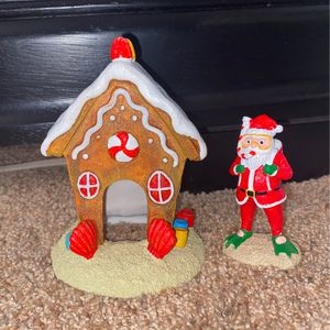 Christmas fish house and santa for Sale in Woodinville, WA