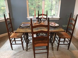 Hand Forged Wrought Iron/Metal ONE OF A KIND DINING SET NOW ONLY $488 for Sale in Durham, NC