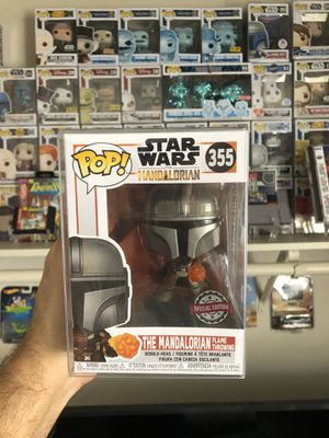 Mandalorian funko pop exclusives flame for Sale in Moreno Valley, CA