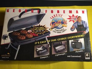*new** GEORGE FOREMAN PORTABLE TAILGATING GAS GRILL - see picture for description - NO TAX for Sale for sale  Metuchen, NJ