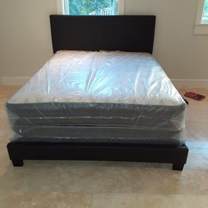3 PIECES, BED, MATTRESS AND BOX SPRING EVERYTHING BRAND NEW, BED SET BEDROOM! for Sale in Miami, FL