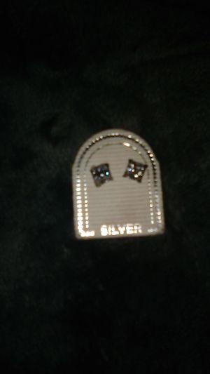 Silver diamond earrings for Sale in Glendale, AZ