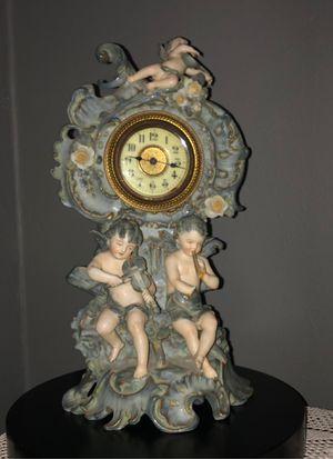 ANTIQUE PORCELAIN WINDE UP CLOCK- GERMANY for Sale in Boca Raton, FL