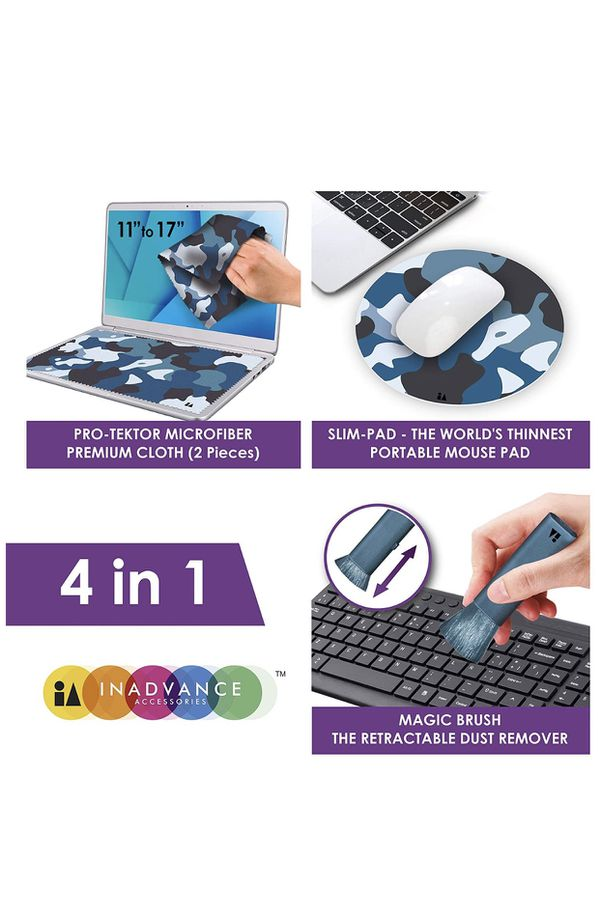 4 in 1 screen protector & cleaning kit - new