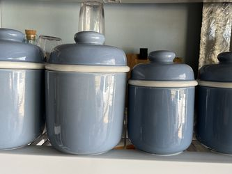 Blue Canister Set for Sale in Cape Coral,  FL