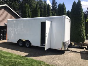 2018 20 ft enclosed trailer made by cargo mate for Sale in Bonney Lake, WA