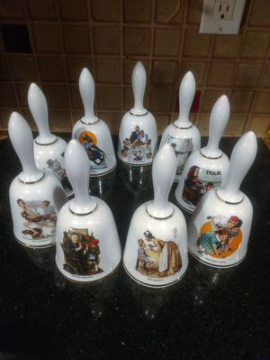 Vintage Norman Rockwell Porcelain Bell Collection for Sale in Pleasant Hill, IA
