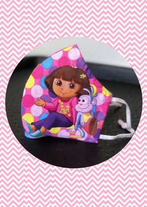 Dora Cloth Face Mask for Kids 7-10 in Fitted Style for Sale in Grand Prairie, TX