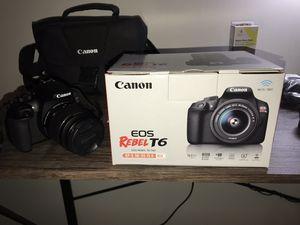 Canon EOS rebel T6 BUNDLE for Sale in Lenexa, KS