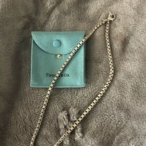 """Tiffany & Co Sterling Silver 18"""" Venetian Box Link Chain Necklace for Sale in Mission Viejo, CA"""