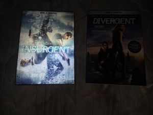 Divergent and insurgent movies for Sale in Cartersville, VA