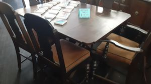 ANTIQUE DARK WOOD DINING SET PROJECT PIECE for Sale in Fresno, CA