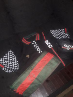 """""""All Authentic""""Gucci Shirt,Gucci Hat and Gucci Scarf, for Sale in Cleveland, OH"""