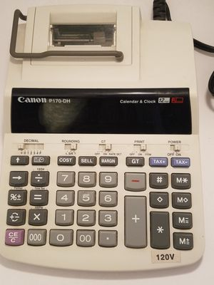 Canon P170-DH Printing Calculator- Like New for Sale in Kansas City, MO