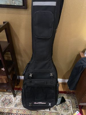 Bass guitar case w attached messenger bag for Sale in Houston, TX