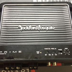 Rockford Fosgate Punch Amplifier R500X1D for Sale in Orlando, FL