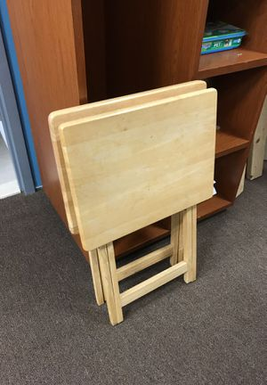 5 wooden tray tables for Sale in Washington, DC