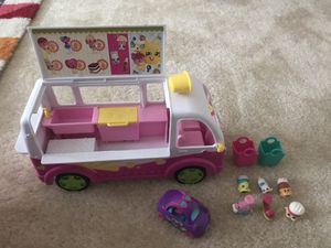 Shopkins ice cream truck toy bundle for Sale in Foster City, CA