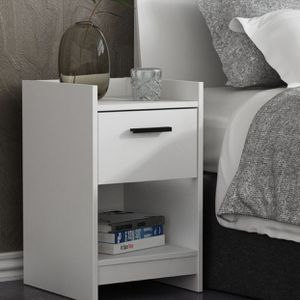 Brand New Contemporary White and Black One Drawer Nightstand Bookcase Organizer for Sale in Dunwoody, GA