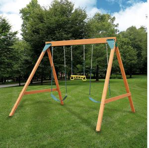 New Brown Wooden Kids Swing Set for Sale in Saratoga, CA