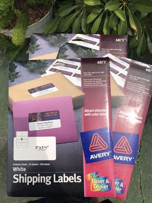 3 packs Avery shipping labels for Sale in Bradenton, FL