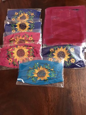 Adult Sunflower Embroidered Face Mask for Sale in Phoenix, AZ