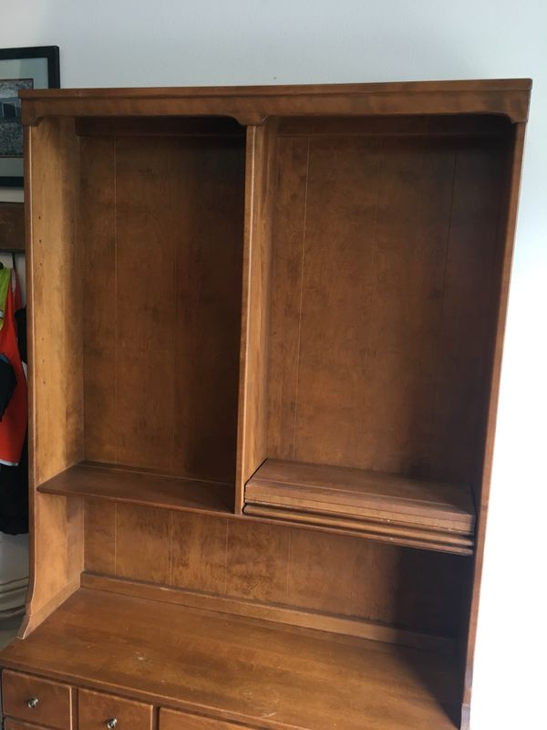 Vintage Ethan Allen 1960s Hutch - solid maple Hutch