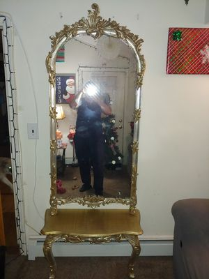 Beautiful Antique Italian Mirror w/ 2 leg stand for Sale in Levittown, PA