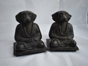 Pair of Antique Copper Yoga Dog Bookends India for Sale in Lake Elsinore, CA