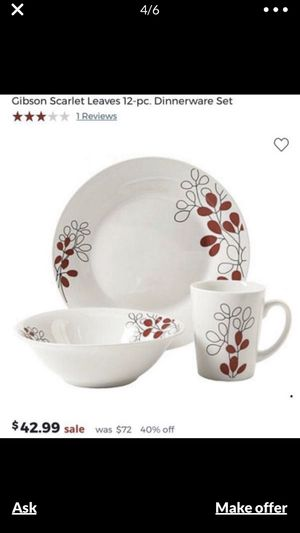 12pcs dinnerware set for Sale in Los Angeles, CA