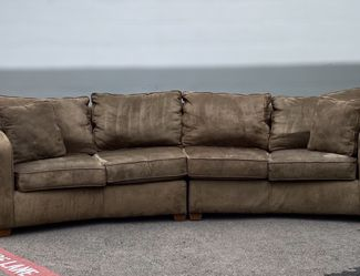 Brown Suede Curved Sofa for Sale in Fort Worth,  TX