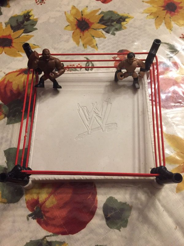 Small Wrestling Ring with two small Figure's