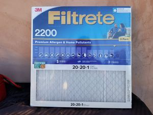 12x Filtrete 2200 20x20x1 Air Filter (for homes or masks! Virus rated) for Sale in Los Angeles, CA