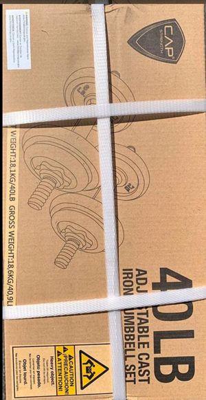 Cap adjustable dumbbell set 40 lb for Sale in Torrance, CA