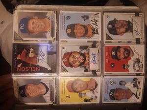 autographed Baseball card lot bowman platinum and topps gallery for Sale in Phoenix, AZ
