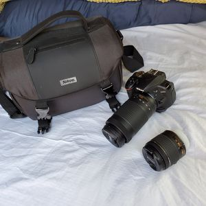 Nikon D3400 camera, additional lense, case, charger for Sale in San Francisco, CA