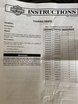 Harley Davidson Touring Seat for Sale in Davenport, FL