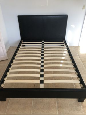 Full size bed frame new in the box. and free delivery for Sale in Hialeah, FL