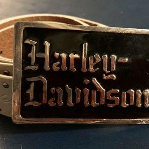 Harley Davidson White Leather Studded Belt for Sale in Clovis, CA