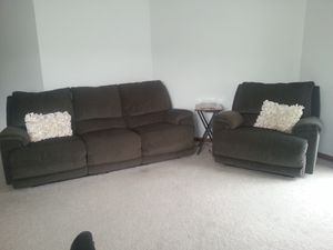 Power Reclining Sofa and Chair for Sale in Chicago, IL