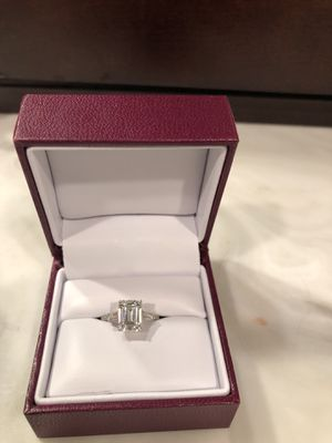 2ct Emerald Cut, platinum band, size 5 engagement ring for Sale in Columbus, OH