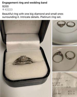 Platinum wedding set for Sale in Fort Campbell, KY